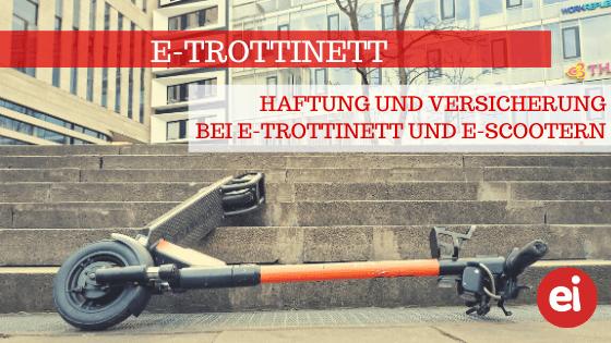 E-Trottinett – Haftung und Versicherung