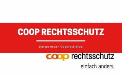 Coop Rechtsschutz startet Corporate Blog.